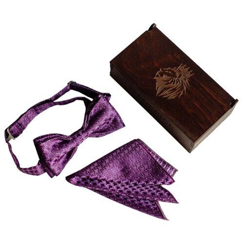 Комплект из 2 предметов Valderice галстук-бабочка и платок VLD2205 сиреневый