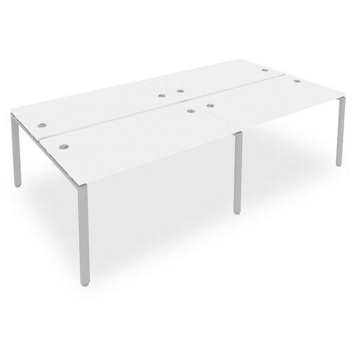 Стол офисный Рива Metal System Б.СМ-4.3 белый/серый