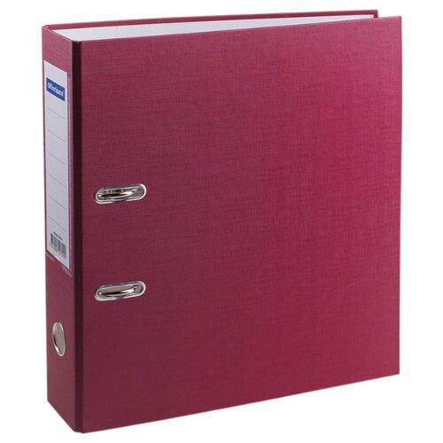 Купить OfficeSpace Папка-регистратор с карманом на корешке A4, бумвинил, 70 мм бордовый, Файлы и папки