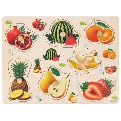 Купить Рамка-вкладыш Подбери картинку Фрукты-ягоды 2567262, Лесная мастерская, Пазлы