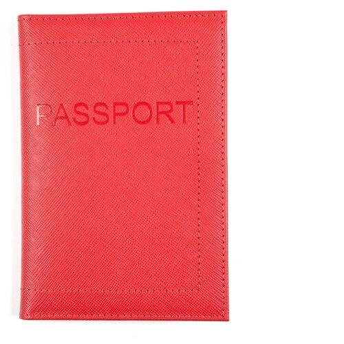 Обложка для пасп. РФ мягкая из кожи SGL-BSBL-1, OP-3-3 (CPS-304-3) Red ELLADA