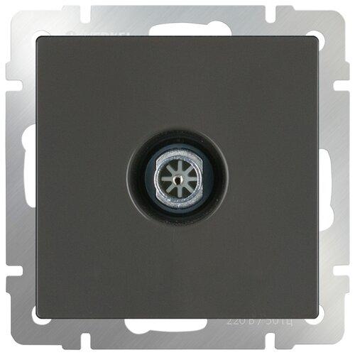 Антенное гнездо Werkel WL07-TV, серый переход гнездо f гнездо tv с кольцом proconnect