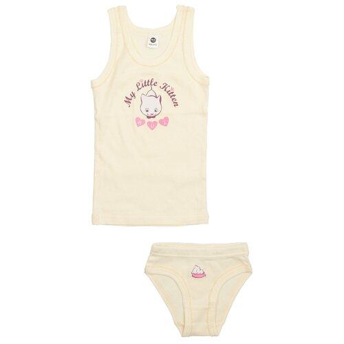 Купить Комплект нижнего белья RuZ Kids размер 140-146, экрю, Белье и купальники