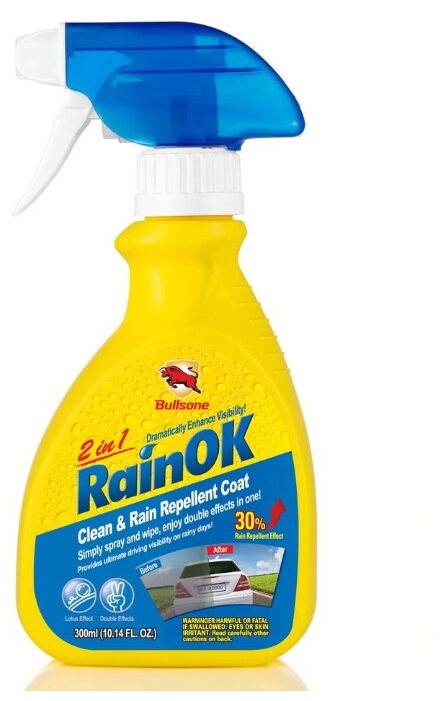 Антидождь Bullsone Clean&Rain Repellent 2 in1 11876902