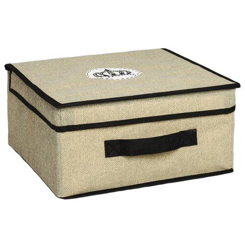 Textura Короб для хранения с крышкой 28 х 30 х 15 см Home короб стеллажный valiant egypt двухсекционный 50 х 30 х 20 см