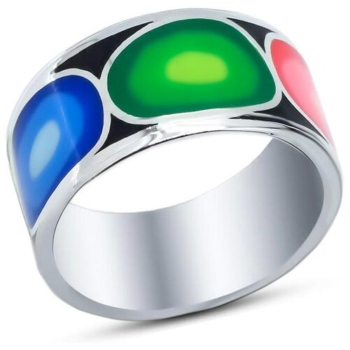 Silver WINGS Кольцо с эмалью из серебра 21set10547mix2-113, размер 17 silver wings кольцо с бирюзой из серебра 21set10724 113 размер 17