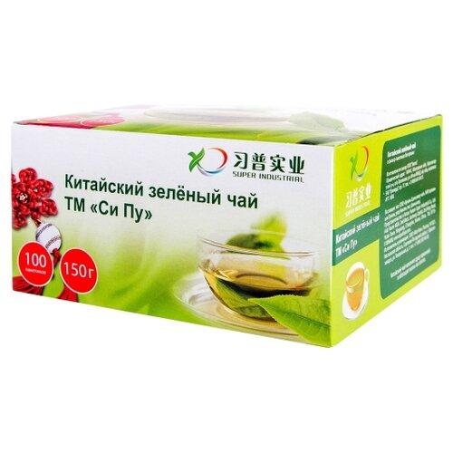 Чай зеленый Shennun Си Пу байховый китайский, в пакетиках, 150 г 100 шт. shennun чай зеленый листовой 100 г