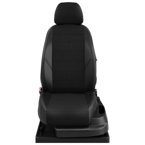Авточехлы для Mazda 5 с 2006-н.в. микровэн Второй ряд три кресла-трансформеры, 4 подлокотника, 5 подголовников (Мазда 5). КК-4 готика/чёрный