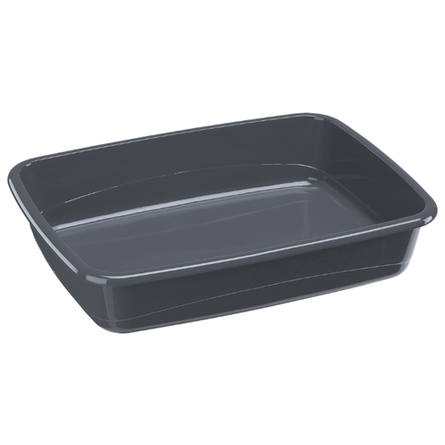 Туалет-лоток для кошек Ferplast NIP 20 54.5х39.5х12.5 см серый 1 шт.