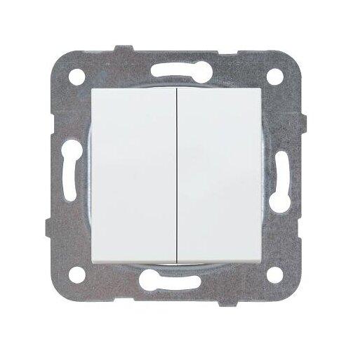 Выключатель 2х1-полюсный Panasonic WKTT0009-2WH-RES,10А, белый удлинитель panasonic wlta0422 2wh res
