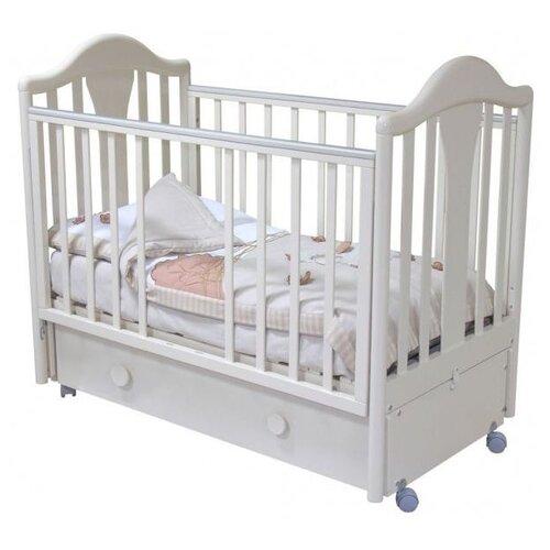Купить Кроватка Красная Звезда Карина С555 (классическая), продольный маятник белый, Кроватки