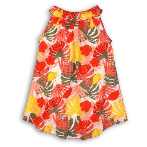 Платье Minoti размер 7-8л, цветы