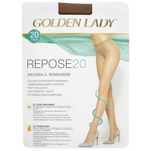 Колготки Golden Lady Repose 20 den, размер 2-S, daino (бежевый) angle of repose