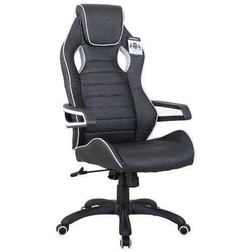 Компьютерное кресло Brabix Techno Pro GM-003 игровое, обивка: искусственная кожа, цвет: черный/серый экокожа компьютерное кресло brabix nitro gm 001 игровое обивка искусственная кожа цвет черный