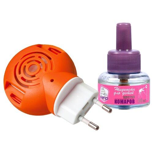 Фумигатор + жидкость BOYSCOUT HELP против комаров комплект для детей 30 мл 30 ночей средство защиты boyscout help 80262