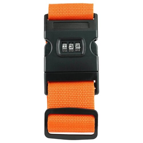Ремень для багажа verona Orion, оранжевый набор для путешествий многофункциональный дорожный адаптер ремень для багажа уп 1 40наб