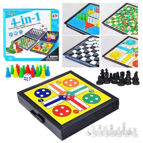 Набор настольных игр Sheng Bo Family Games 4 в 1