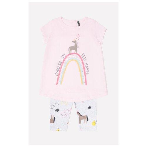 Комплект одежды crockid размер 74, розовый/светло-серый, Комплекты  - купить со скидкой