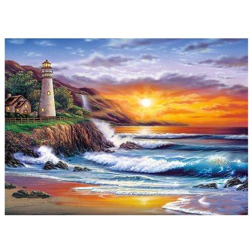 Купить Картина по номерам с цветным холстом Molly 30х40 см Красивый закат, Картины по номерам и контурам