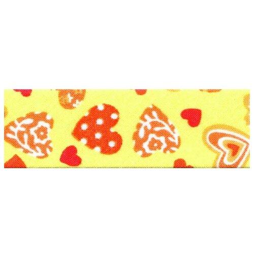 Купить SAFISA Косая бейка 6530-20мм-109, желтый/красный 109 2 см х 20 м, Технические ленты и тесьма