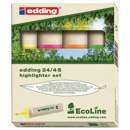 Купить Edding Набор текстовыделителей EcoLine 24, 4 шт. (E-24/4S), Маркеры