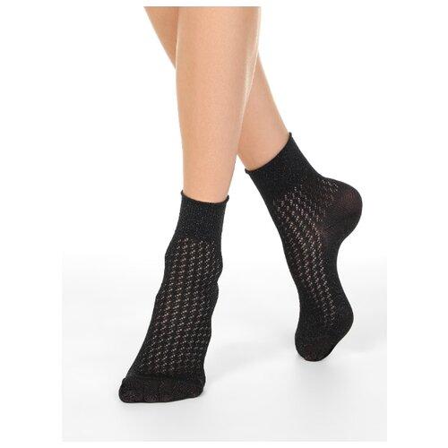 Фото - Носки Conte Elegant Ajour 19С-186СП 180, размер 23, черный носки conte elegant comfort 19с 101сп размер 23 темно бордовый
