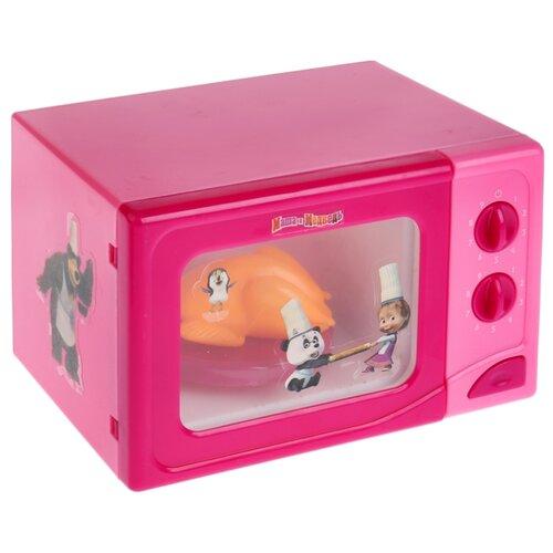 Купить Микроволновая печь Играем вместе Маша и Медведь B1452826-R розовый, Детские кухни и бытовая техника