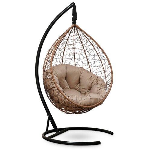 Подвесное кресло-кокон Laura Outdoor Sevilla Verde, горячий шоколад/бежевый