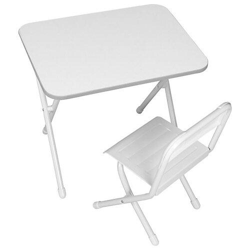 Купить Комплект ДЭМИ стол + стул №2-03 55x56 см белый, Парты и столы