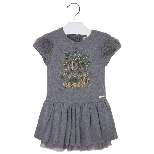 Купить Платье Mayoral размер 128, темно-серый, Платья и сарафаны