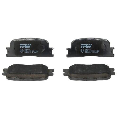 Дисковые тормозные колодки задние TRW GDB3374 для Toyota Camry, Lexus ES (4 шт.)