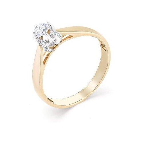 Мастер Бриллиант Кольцо с 17 бриллиантами из красного золота 1-106-992, размер 18 мастер бриллиант кольцо с 6 бриллиантами из красного золота 1 106 567 размер 18 5