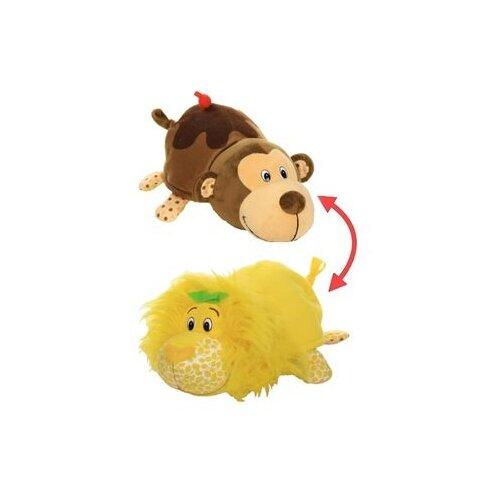 Мягкая игрушка 1 TOY Вывернушка Ням-Ням Лев-Мартышка с ароматом 35 см абвгдейка мягкая игрушка лев 40 см