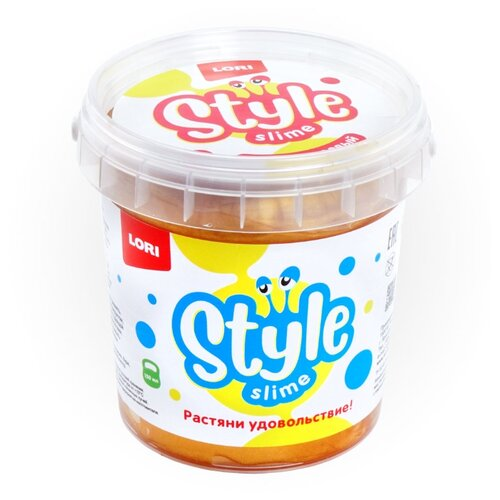 Лизун LORI Style Slime перламутровый с ароматом банана золотистый