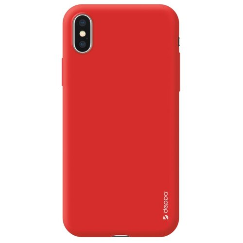 Фото - Чехол-накладка Deppa Gel Color Case для Apple iPhone X/Xs красный чехол deppa air case для apple iphone x xs синий
