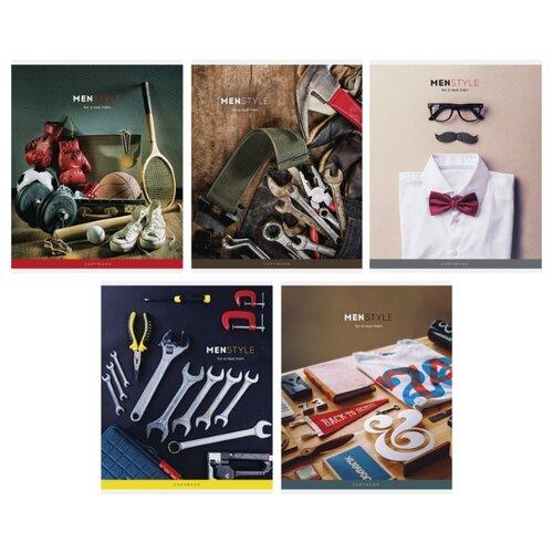 Купить ArtSpace Упаковка тетрадей Стиль. Men's style Т48к_24400, 10 шт./5 дизайнов, клетка, 48 л., Тетради