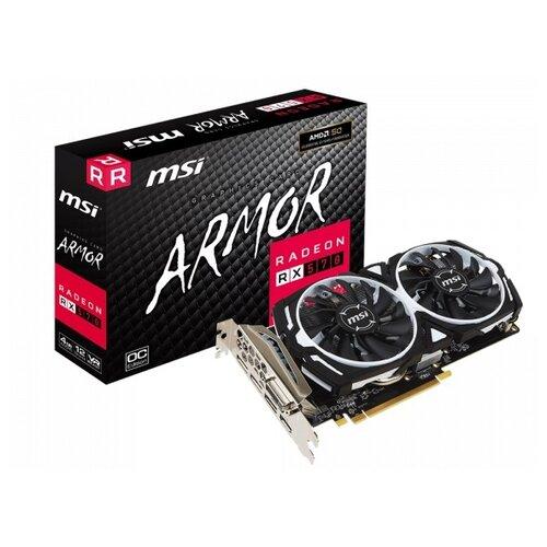 Видеокарта MSI Radeon RX 570 1268Mhz PCI-E 3.0 4096Mb 7000Mhz 256 bit DVI HDMI 3xDisplayPort HDCP Armor OC Retail видеокарта msi radeon rx 570 1268mhz pci e 3 0 8192mb 7000mhz 256 bit dvi dp hdmi hdcp rx 570 armor 8g oc
