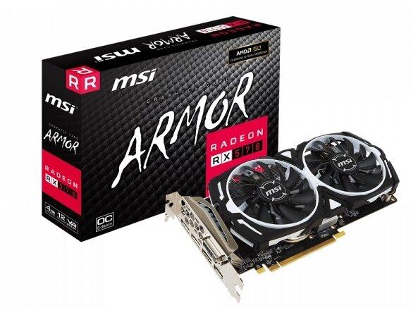 Стоит ли покупать Видеокарта MSI Radeon RX 570 1268Mhz PCI-E 3.0 4096Mb 7000Mhz 256 bit DVI HDMI 3xDisplayPort HDCP Armor OC? Выгодные цены на Яндекс.Маркете