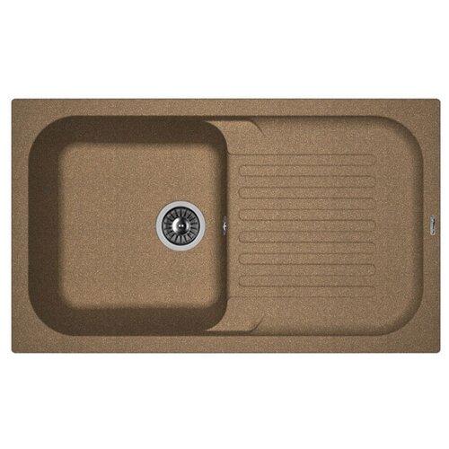 Врезная кухонная мойка 86 см FLORENTINA Арона-860 FG 20.225.D0860.105 коричневый кухонная мойка florentina корсика 510 капучино fg 20 105 b0510 306