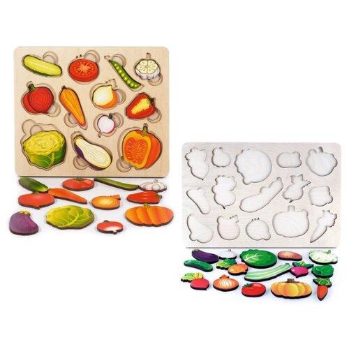 Купить Развивающая доска Часть и целое. Овощи + Развивающая доска большая Овощи , Нескучные игры, Пазлы