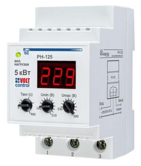 Реле контроля напряжения Новатек-Электро РН-125