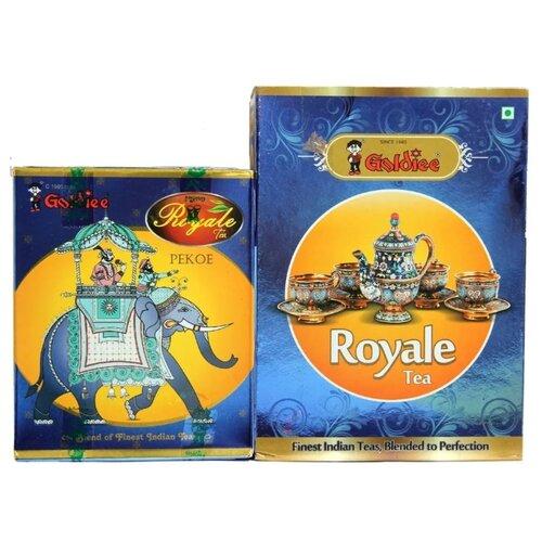 Чай черный Goldiee Пекое Black Pekoe и Гранулированный Royale Tea, набор