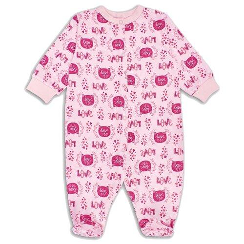 Купить Комбинезон Веселый Малыш размер 68, розовый, Комбинезоны