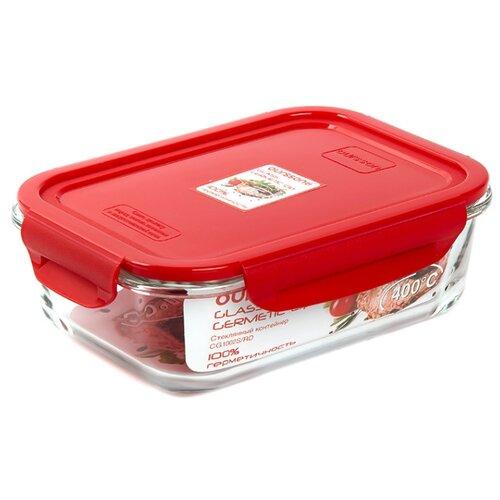 Oursson Контейнер CG1502S, 18.5x23.5 см, прозрачный/красный oursson контейнер cp1304s оранжевый прозрачный
