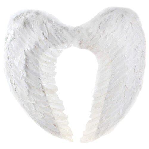 Купить Крылья Страна Карнавалия для ангела 59 х 59 см (322180/322182), белый, Карнавальные костюмы