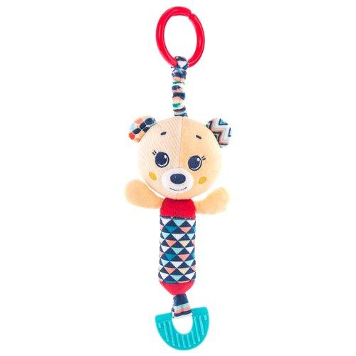 Купить Подвесная игрушка Happy Snail Мишка Берни (19HS03BE) бежевый/красный, Подвески