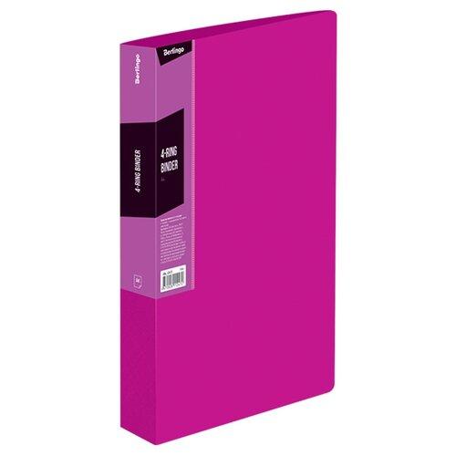 Купить Berlingo Папка на 4-х кольцах Color zone А4, пластик розовый, Файлы и папки
