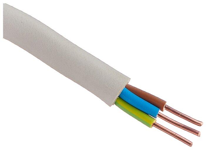 Кабель NYM 3х2.5 кв. мм (50 м) Пан Электрик ГОСТ белый