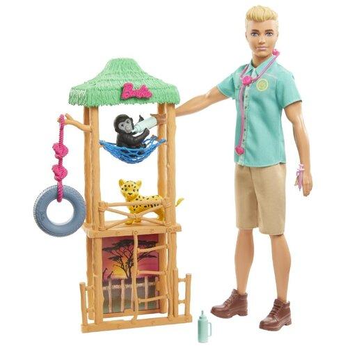 Купить Игровой набор Barbie Кен Ветеринар диких животных, GJM33, Куклы и пупсы