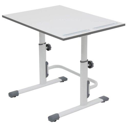 Купить Стол Polini Simple М1 75x55 см белый/серый, Парты и столы